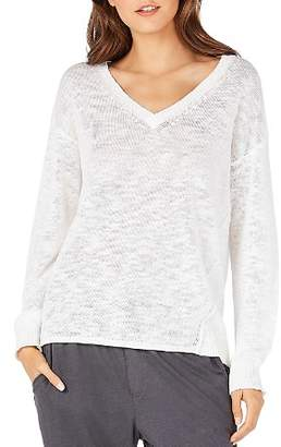 Michael Stars Lightweight Keyhole-Back Sweater
