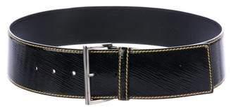 Prada Oversize Patent Leather Belt
