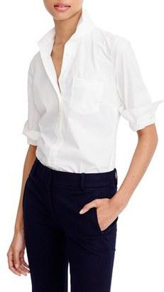 Women's J.crew New Perfect Cotton Poplin Shirt $69.50 thestylecure.com