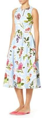 Carolina Herrera Floral A-Line Day Dress