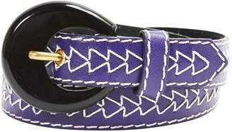 Saint Laurent Vintage Purple Leather Belts