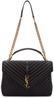 Saint Laurent Black Large College Chain Bag