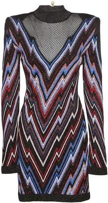 Balmain Patterned Mini Dress