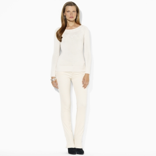 Ralph Lauren Cotton Ballet-Neck Sweater