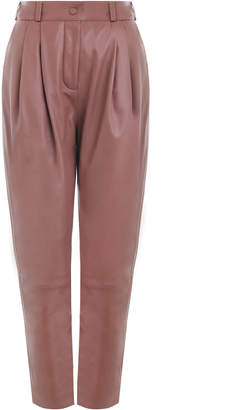Zimmermann Tempest Leather Tuck Pant