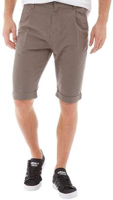 Converse Mens Rolled Hem Checked Knee Length Shorts Gunmetal Multi
