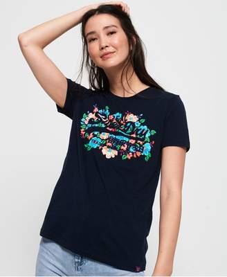 Superdry Vintage Logo Puff Floral T-Shirt