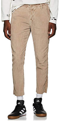 NSF Men's Cotton Corduroy Slim Crop Trousers - Beige, Tan