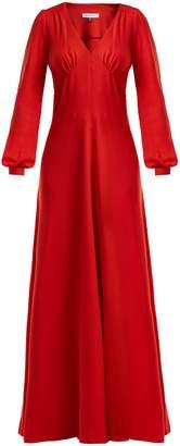 Bella Freud Nova crepe puff-shoulder dress