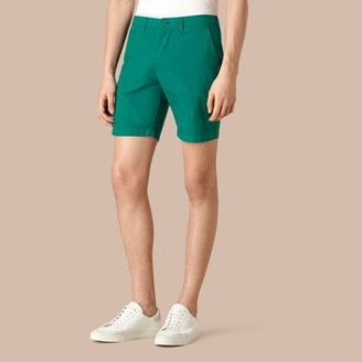 Burberry Cotton Poplin Chino Shorts $195 thestylecure.com