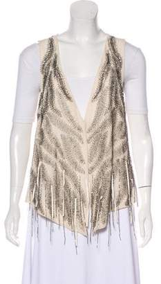 Haute Hippie Beaded Silk Vest
