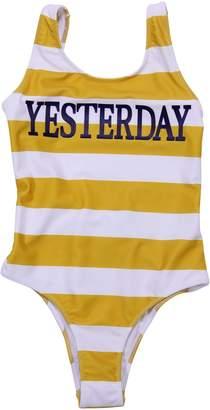 Alberta Ferretti Striped Lycra Yesterday One Piece Swim Suit