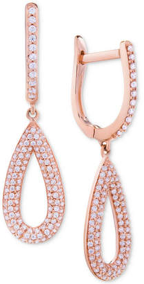 Wrapped in Love Diamond Pave Teardrop Drop Earrings (1/2 ct. t.w.) in 14k Rose Gold, Created for Macy's