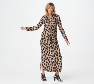 G.I.L.I. Got It Love It G.I.L.I. Regular Solid or Printed Peached Knit Duster Dress