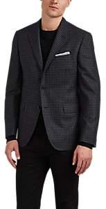 John Vizzone Men's Checked Wool Two-Button Sportcoat - Gray