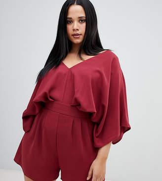 66cfcb40b50 Asos DESIGN Curve playsuit with kimono sleeve