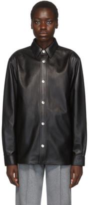 Acne Studios Black Bla Konst Leather Tracey Jacket