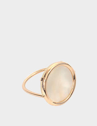 ginette_ny Mother of Pearl 18-karat rose gold Disc ring