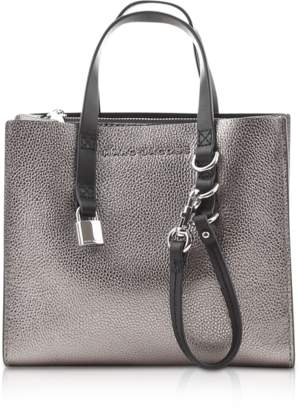 Marc Jacobs The Grind Mini Metallic Leather Tote Bag