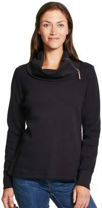 Izod Women's Zipper Detailed Cowlneck Top