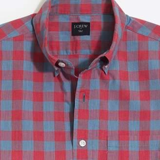 J.Crew Slim short-sleeve heathered cotton shirt