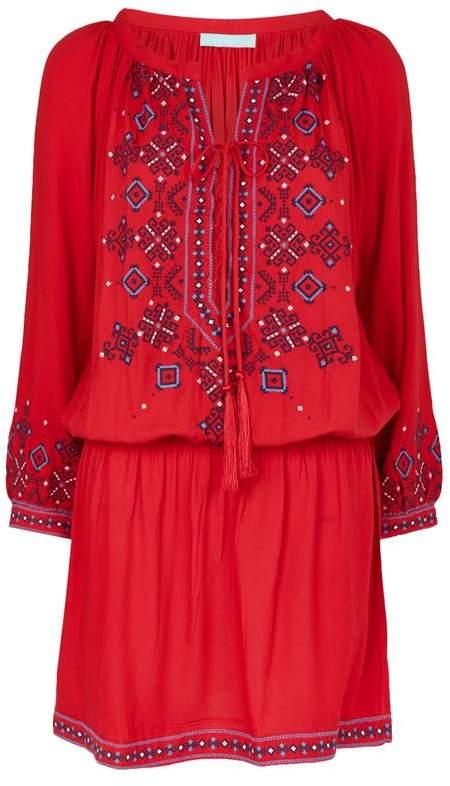 Nadja Embroidered Laced Kaftan