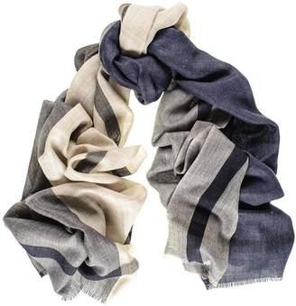 Black Mayfair Merino Wool and Silk Scarf