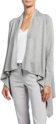 Neiman Marcus Long-Sleeve High-Low Cardigan