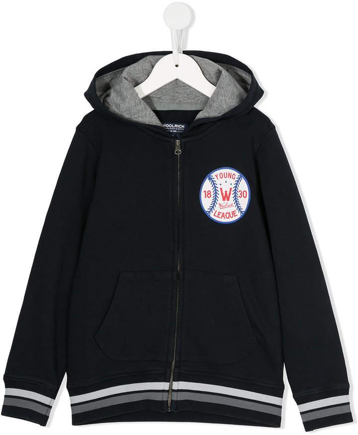 Woolrich Kids baseball crest hoodie