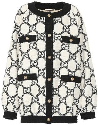 Gucci Oversized tweed cardigan