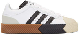 adidas by Alexander Wang White and Black Skate Super Sneakers