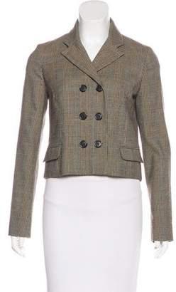 Chloé Wool Plaid Blazer