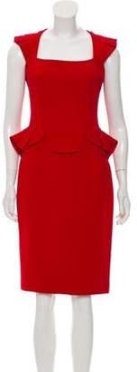 Elie Saab Peplum Knee-Length Dress Peplum Knee-Length Dress