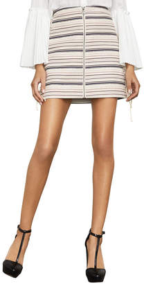 BCBGMAXAZRIA Brittany Lace-Up Mini Skirt