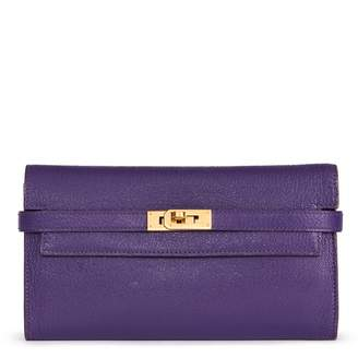Hermes Kelly Purple Leather Purses, wallets & cases