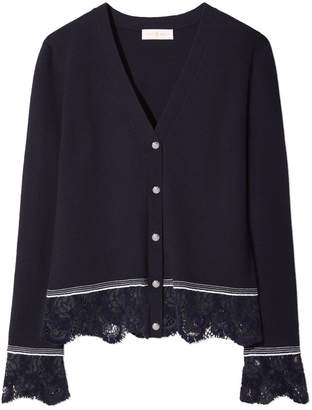 Tory Burch LACE-TRIM CARDIGAN