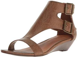 Sugar Women's Wigout Demi T-Bar Open Toe Buckle Wedge Sandal