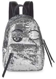 Chiara Ferragni Sequin Embellished Wink Backpack