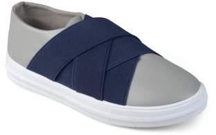 Brinley Co. Brinley Kids Little Boy Faux Leather Contrast Elastic Slip-on Shoes