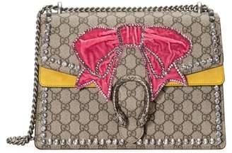 Gucci Medium Dionysus GG Supreme Canvas Shoulder Bag