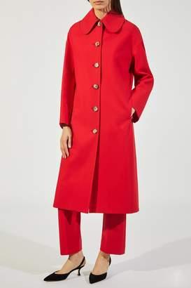 Khaite The Doris Coat In Crimson