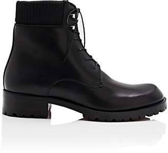 Christian Louboutin Men's Trapman Leather Boots - Black