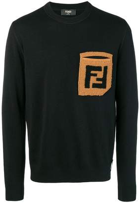 Fendi contrasting pocket sweatshirt