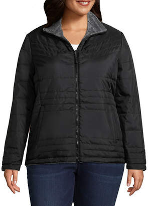 Free Country Woven Water Resistant Lightweight Puffer Jacket-Plus