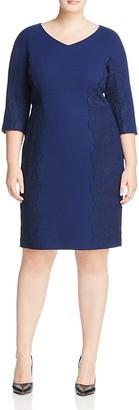 Lafayette 148 New York Plus Alexia Lace Appliqué Sheath Dress $848 thestylecure.com