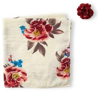 Original Penguin Mako Floral Pocket Square & Lapel Pin Set