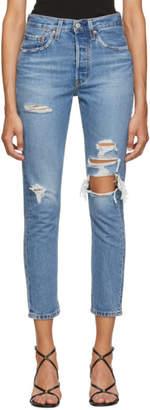 Levi's Levis Blue Skinny 501 Jeans