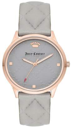 Juicy Couture Women's Grey Leather Watch, 36mm