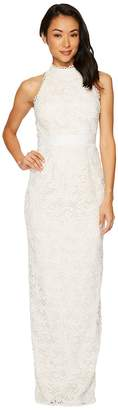 Adrianna Papell Lace Halter Wedding Gown Women's Dress