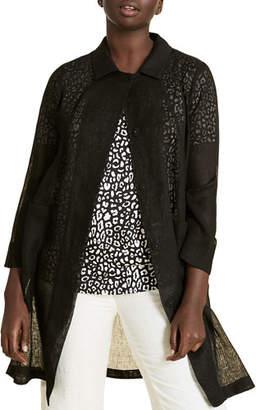 Marina Rinaldi Plus Size Tattile Button-Front 3/4-Sleeve Jacket